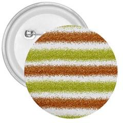 Metallic Gold Glitter Stripes 3  Buttons