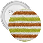 Metallic Gold Glitter Stripes 3  Buttons Front