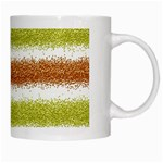 Metallic Gold Glitter Stripes White Mugs Right