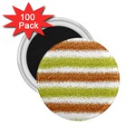 Metallic Gold Glitter Stripes 2.25  Magnets (100 pack)  Front