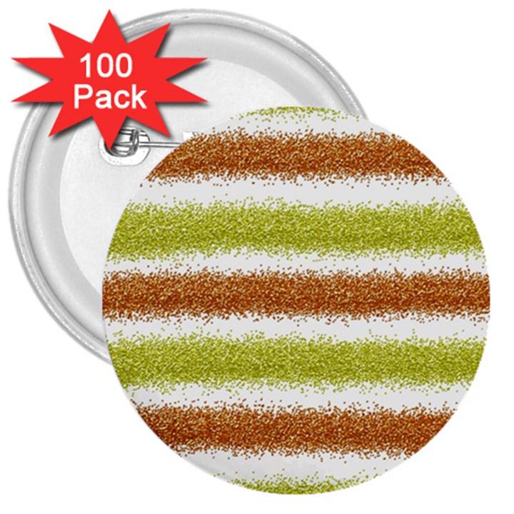 Metallic Gold Glitter Stripes 3  Buttons (100 pack)