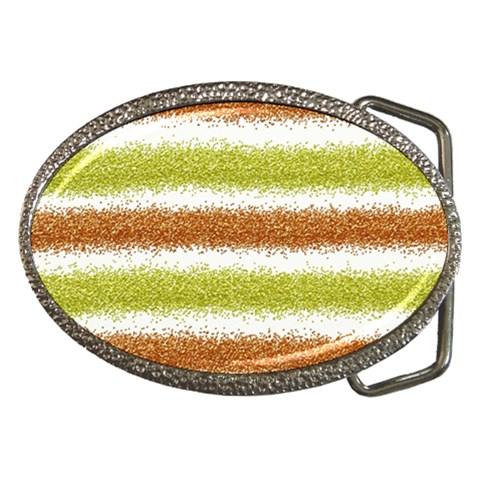 Metallic Gold Glitter Stripes Belt Buckles