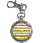 Metallic Gold Glitter Stripes Key Chain Watches Front