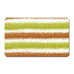 Metallic Gold Glitter Stripes Magnet (Rectangular) Front