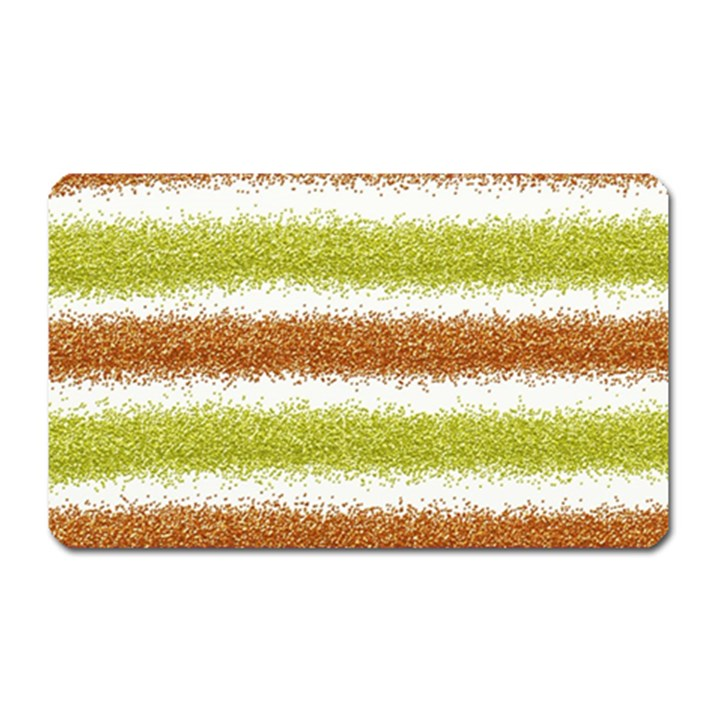 Metallic Gold Glitter Stripes Magnet (Rectangular)