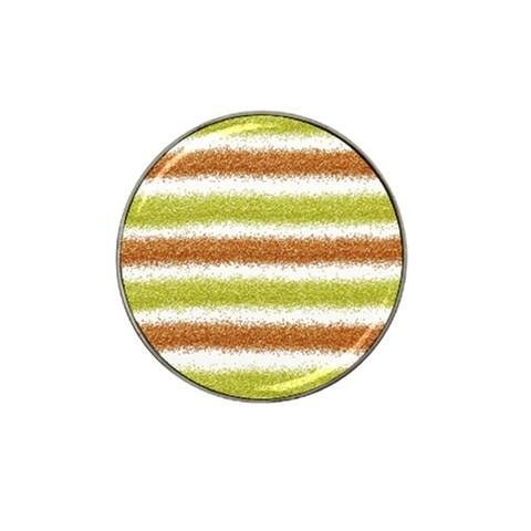 Metallic Gold Glitter Stripes Hat Clip Ball Marker