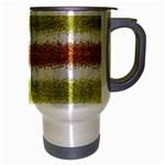 Metallic Gold Glitter Stripes Travel Mug (Silver Gray) Right