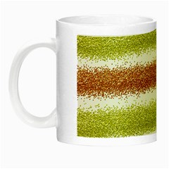 Metallic Gold Glitter Stripes Night Luminous Mugs