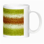 Metallic Gold Glitter Stripes Night Luminous Mugs Right