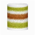 Metallic Gold Glitter Stripes Morph Mugs Center