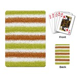 Metallic Gold Glitter Stripes Playing Card Back