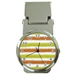 Metallic Gold Glitter Stripes Money Clip Watches Front
