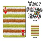 Metallic Gold Glitter Stripes Playing Cards 54 Designs  Front - Heart5