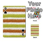 Metallic Gold Glitter Stripes Playing Cards 54 Designs  Front - Spade9
