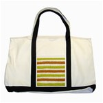 Metallic Gold Glitter Stripes Two Tone Tote Bag Front