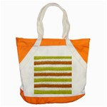 Metallic Gold Glitter Stripes Accent Tote Bag Front