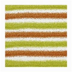Metallic Gold Glitter Stripes Medium Glasses Cloth