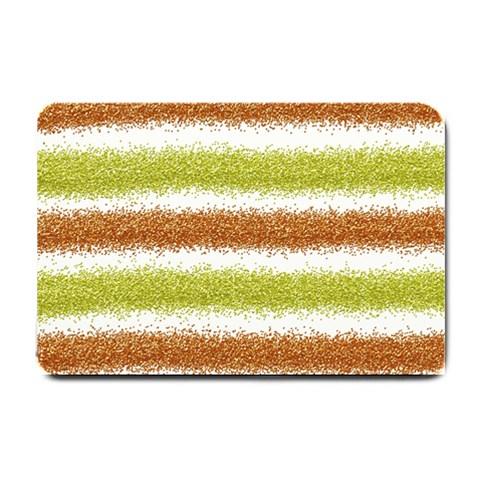 Metallic Gold Glitter Stripes Small Doormat