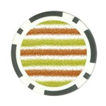 Metallic Gold Glitter Stripes Poker Chip Card Guards Front