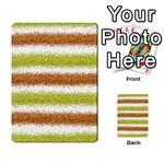 Metallic Gold Glitter Stripes Multi-purpose Cards (Rectangle)  Front 2