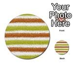 Metallic Gold Glitter Stripes Multi-purpose Cards (Round)  Front 38