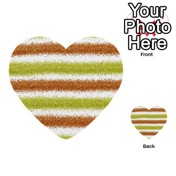 Metallic Gold Glitter Stripes Multi-purpose Cards (Heart)