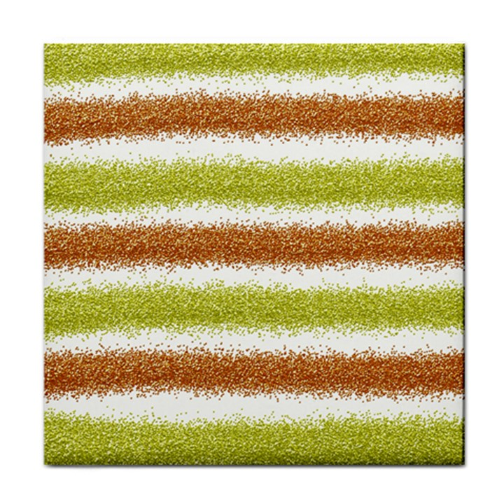 Metallic Gold Glitter Stripes Face Towel
