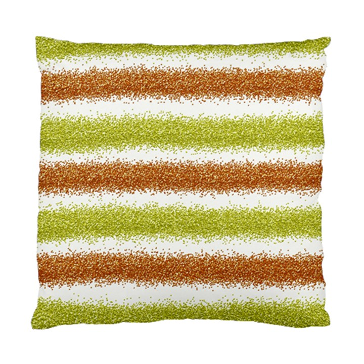 Metallic Gold Glitter Stripes Standard Cushion Case (Two Sides)