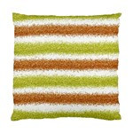 Metallic Gold Glitter Stripes Standard Cushion Case (Two Sides) Back
