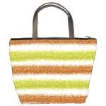 Metallic Gold Glitter Stripes Bucket Bags Back