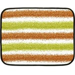 Metallic Gold Glitter Stripes Fleece Blanket (Mini) 35 x27 Blanket