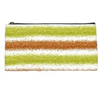 Metallic Gold Glitter Stripes Pencil Cases Front