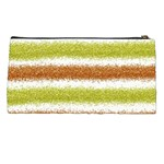 Metallic Gold Glitter Stripes Pencil Cases Back