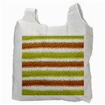 Metallic Gold Glitter Stripes Recycle Bag (Two Side)  Back