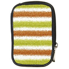 Metallic Gold Glitter Stripes Compact Camera Cases