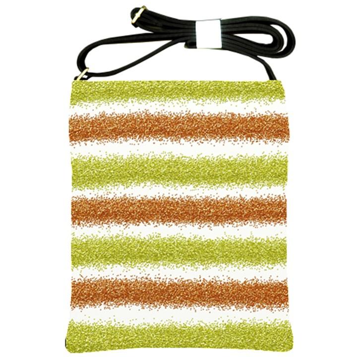 Metallic Gold Glitter Stripes Shoulder Sling Bags