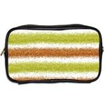 Metallic Gold Glitter Stripes Toiletries Bags 2-Side Back