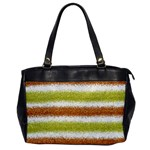 Metallic Gold Glitter Stripes Office Handbags Front