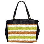 Metallic Gold Glitter Stripes Office Handbags (2 Sides)  Front