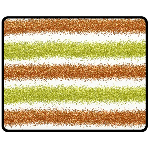 Metallic Gold Glitter Stripes Fleece Blanket (Medium)