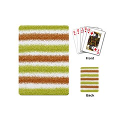 Metallic Gold Glitter Stripes Playing Cards (Mini)
