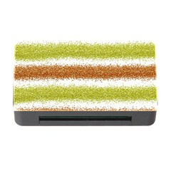 Metallic Gold Glitter Stripes Memory Card Reader with CF