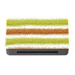 Metallic Gold Glitter Stripes Memory Card Reader with CF Front