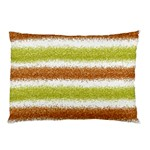 Metallic Gold Glitter Stripes Pillow Case (Two Sides) Front