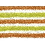 Metallic Gold Glitter Stripes You Rock 3D Greeting Card (7x5) Front