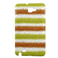 Metallic Gold Glitter Stripes Samsung Galaxy Note 1 Hardshell Case