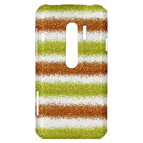 Metallic Gold Glitter Stripes HTC Evo 3D Hardshell Case