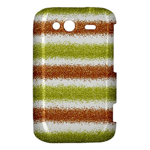 Metallic Gold Glitter Stripes HTC Wildfire S A510e Hardshell Case