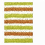 Metallic Gold Glitter Stripes Large Garden Flag (Two Sides) Front