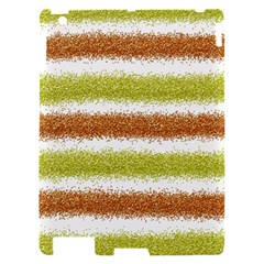 Metallic Gold Glitter Stripes Apple iPad 2 Hardshell Case
